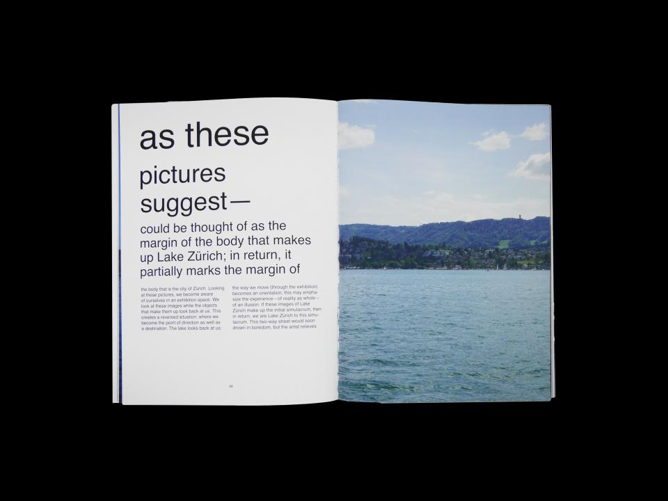 double spread photography and text