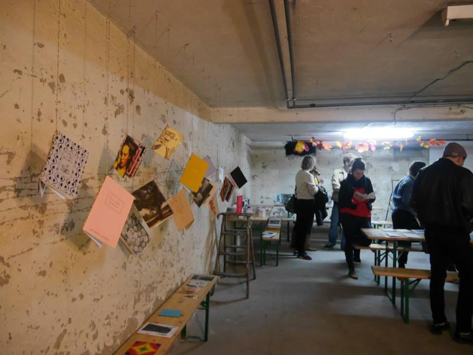 Wall with exhibited publications