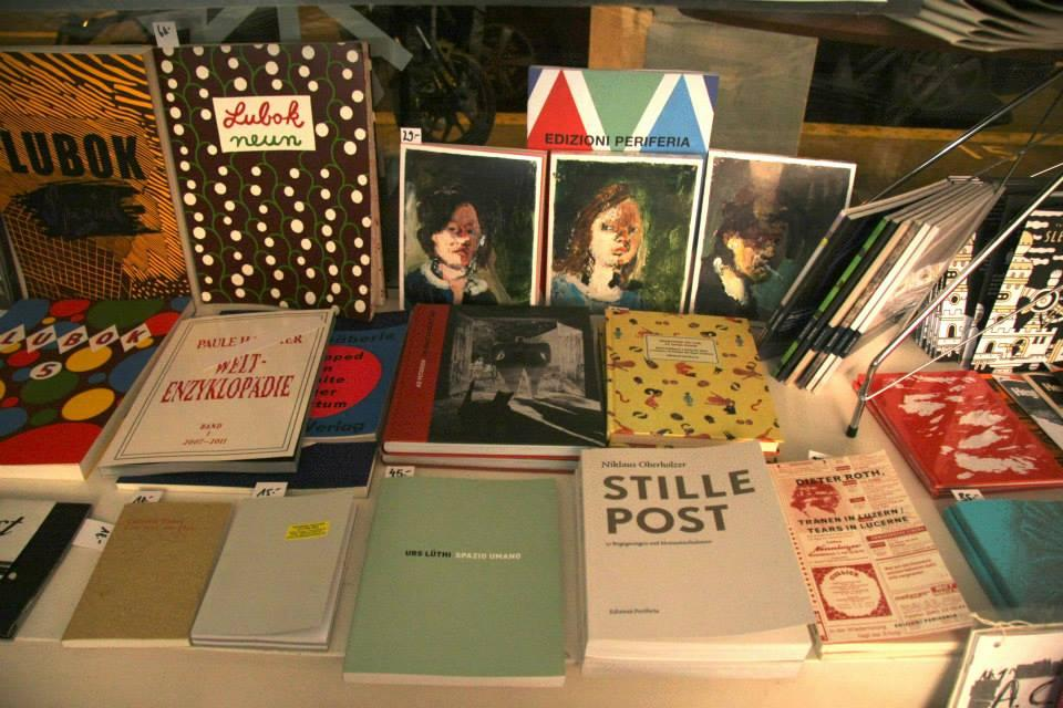 Exhibited books on a table