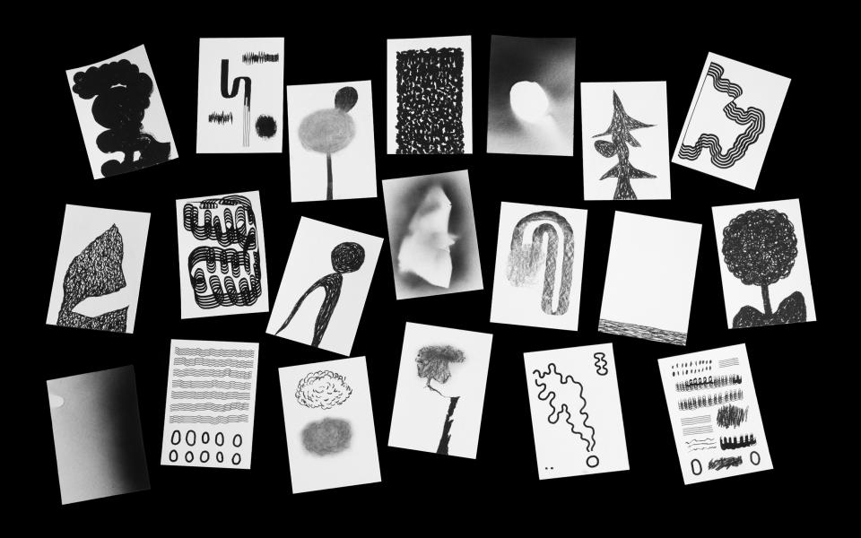 Black and white illustrations